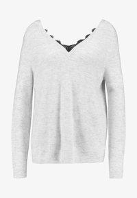 ONLY - Jersey de punto - white/black - 3