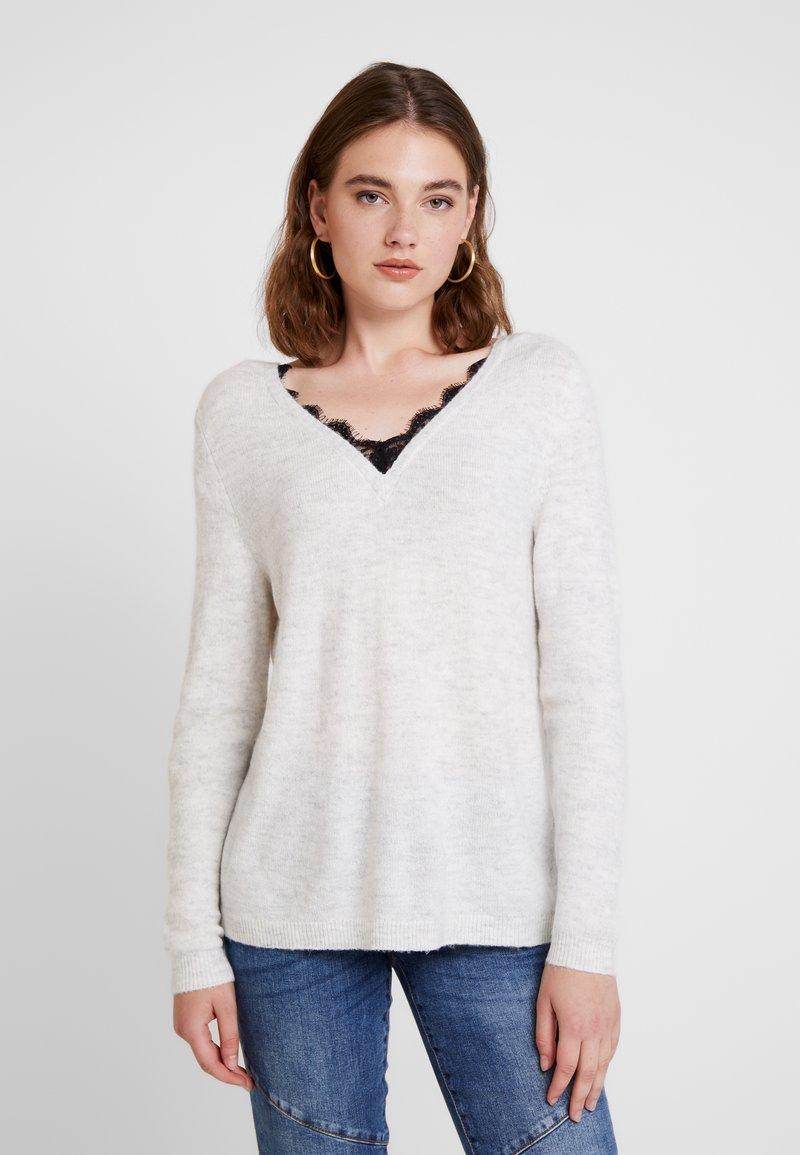 ONLY - Jersey de punto - white/black
