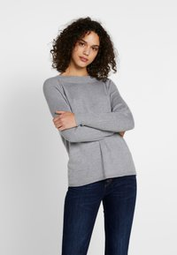 ONLY - ONLLACEY BOATNECK - Jumper - medium grey melange - 0
