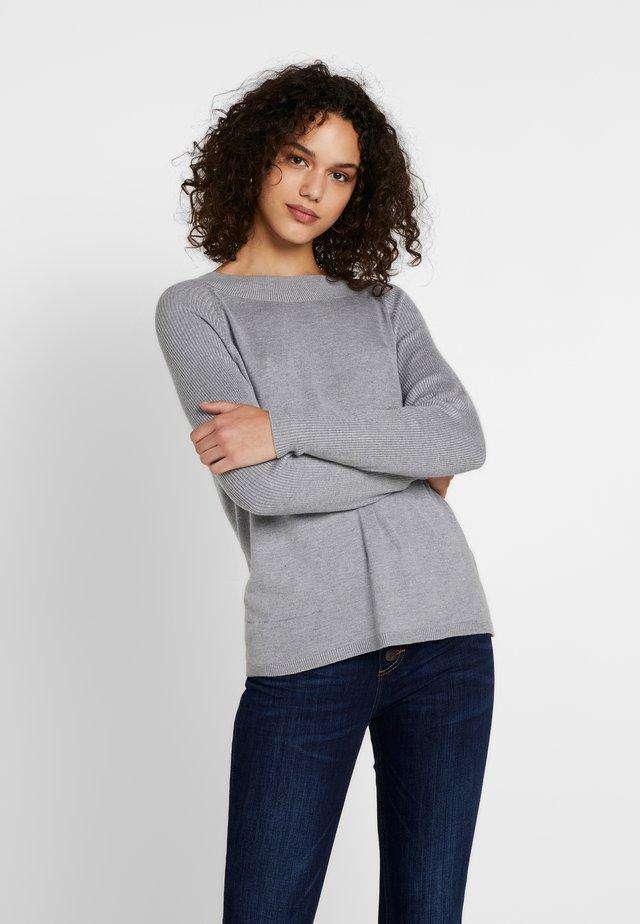 ONLLACEY BOATNECK - Jersey de punto - medium grey melange