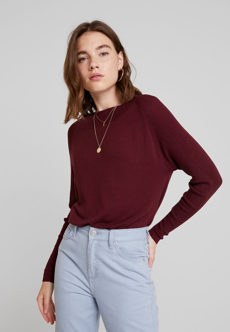 ONLY - ONLLACEY BOATNECK - Jumper - tawny port