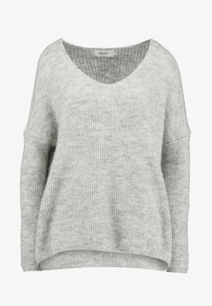 ONLHANNA MAYE V NECK - Trui - light grey