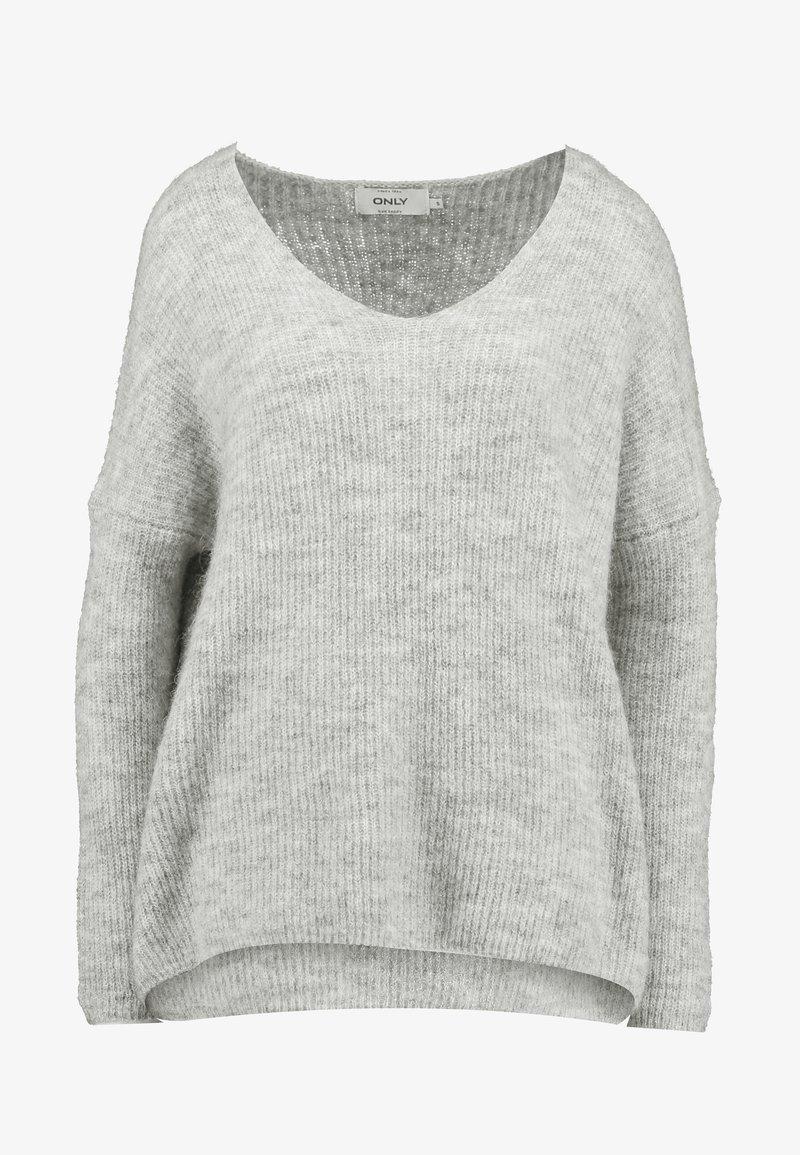 ONLY ONLHANNA MAYE V NECK - Strikkegenser - light grey
