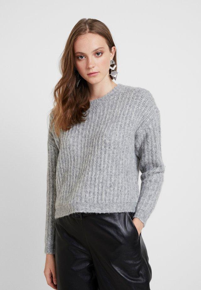 ONLCHUNKY - Jersey de punto - light grey melange/multi melange