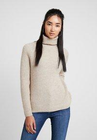 ONLY - ONLJADE ROLLNECK - Strickpullover - whitecap gray melange - 0