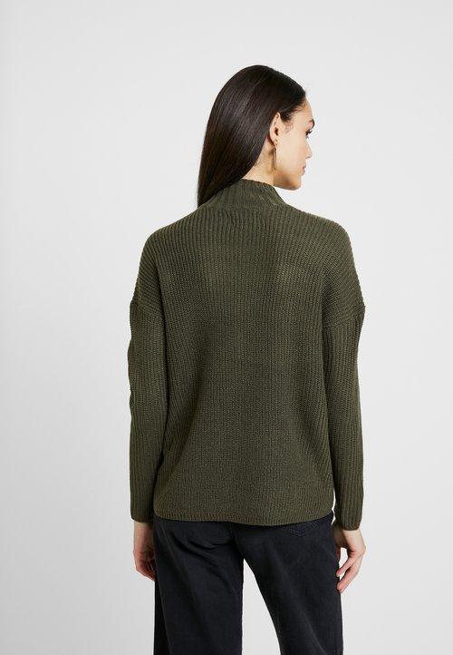 ONLY ONLAVA HIGHNECK - Sweter - olive green Odzież Damska MMIN-KN5 gorąca wyprzedaż w 2019 roku