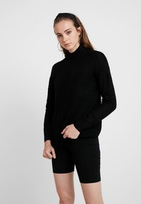 ONLY - ONLAVA HIGHNECK - Pullover - black - 0