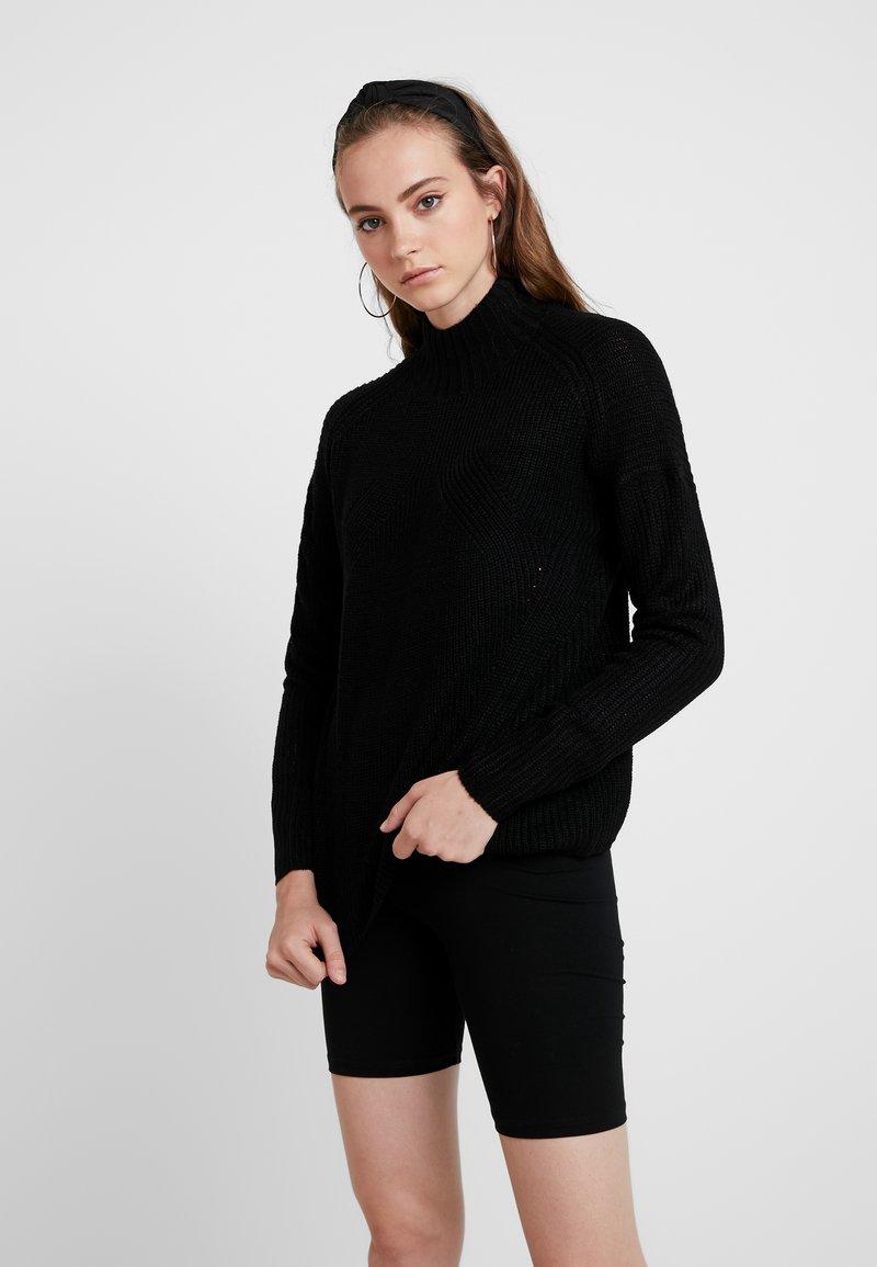 ONLY - ONLAVA HIGHNECK - Pullover - black