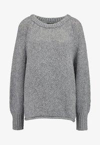 ONLY - ONLLIVA ROLLEDGE - Pullover - medium grey melange - 3