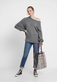 ONLY - ONLLIVA ROLLEDGE - Pullover - medium grey melange - 1