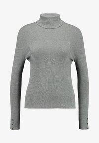 ONLY - ONLIZA BUTTON ROLLNECK  - Jumper - medium grey melange - 3