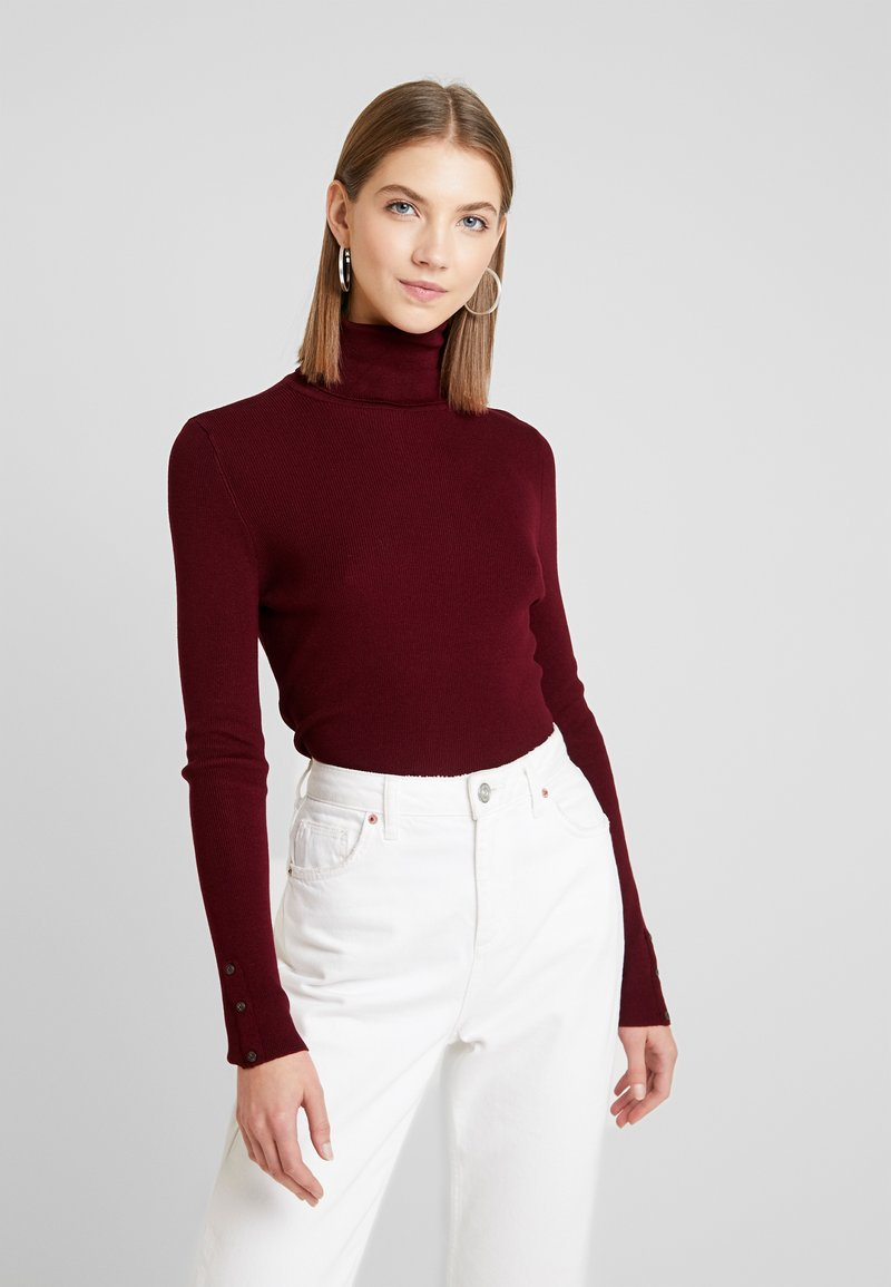 ONLY - ONLIZA BUTTON ROLLNECK  - Strikkegenser - tawny port