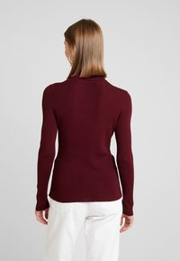 ONLY - ONLIZA BUTTON ROLLNECK  - Strikkegenser - tawny port - 2