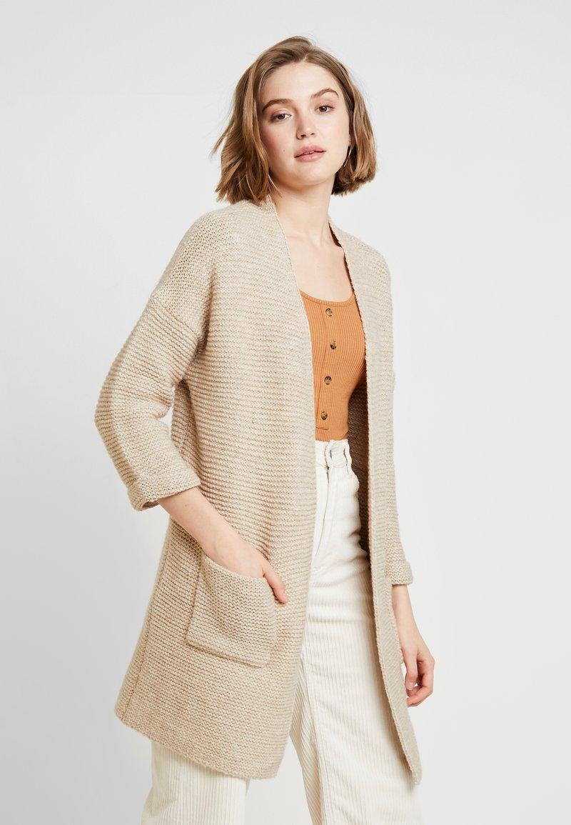 ONLY - ONLTALIYA CARDIGAN - Cardigan - beige