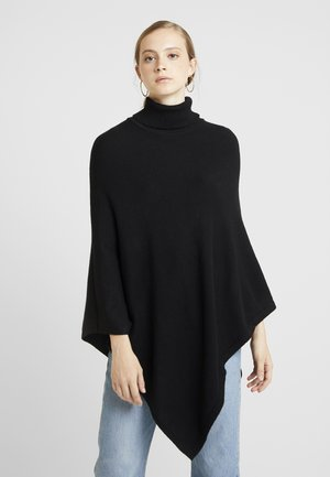 ONLKAYSA HIGHNECK PONCHO - Kapper - black