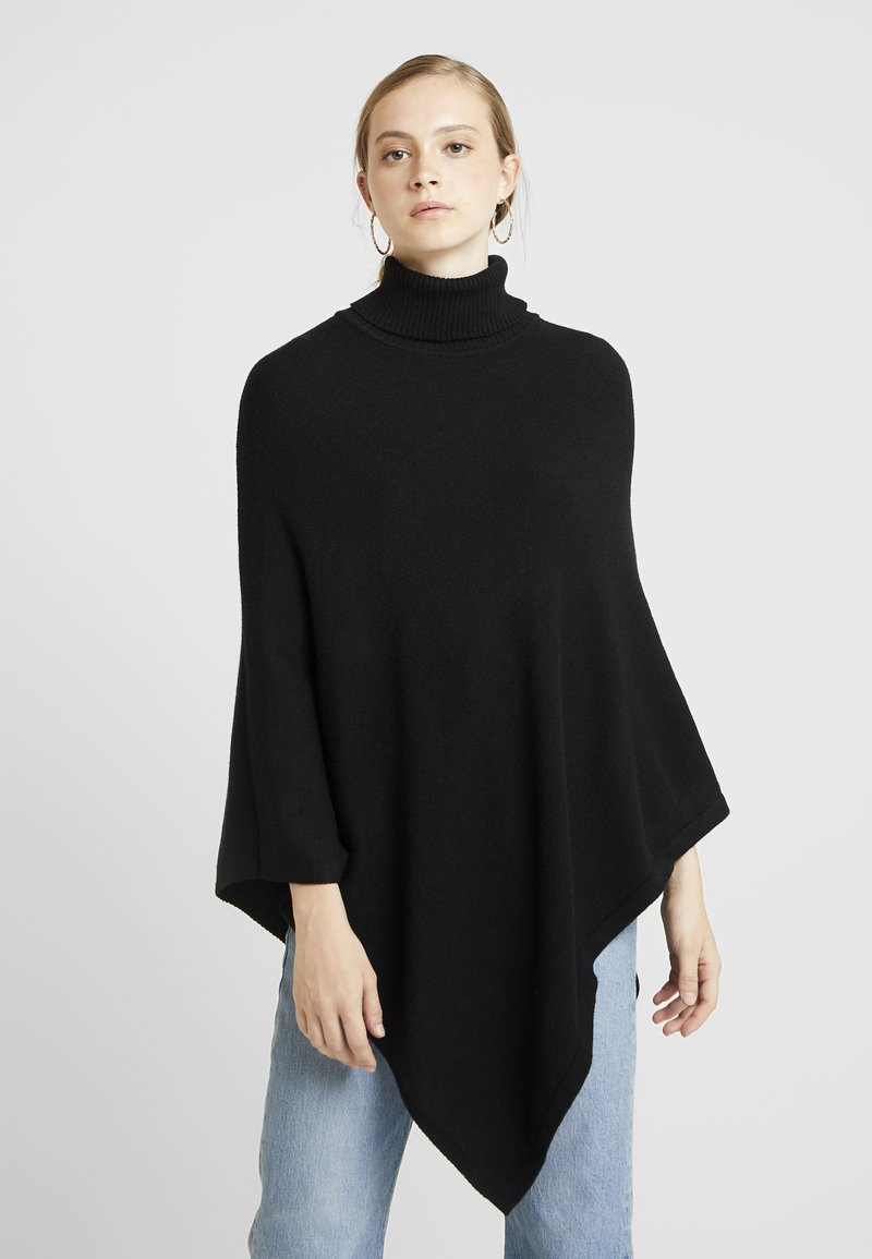 ONLY - ONLKAYSA HIGHNECK PONCHO - Cape - black