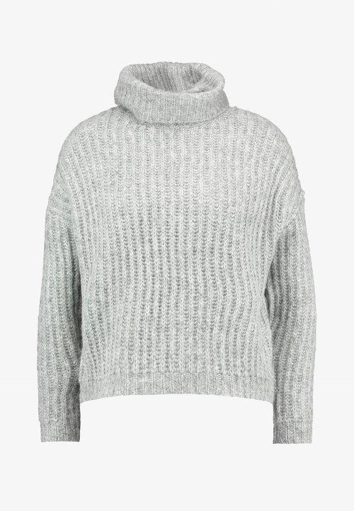 ONLY ONLCHUNKY ROLLNECK - Sweter - light grey melange/multi melange Odzież Damska EXUP-WU7 70% ZNIŻKI