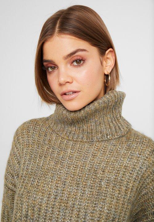 ONLY ONLCHUNKY ROLLNECK - Sweter - desert sage/multi melange Odzież Damska WWFL-EL3 wylot