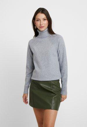 ONLRIKKE ROLLNECK - Pullover - light grey melange