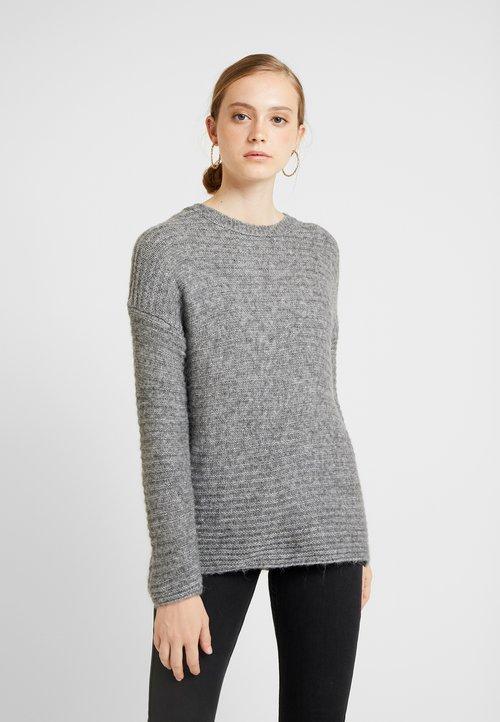 ONLY ONLELIZABETH - Sweter - medium grey melange Odzież Damska JXOQ-ZS6 dobra jakość