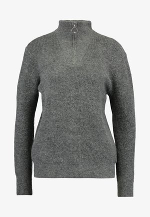 ONLHANNAH ZIP - Trui - medium grey melange
