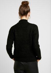 ONLY - ONLHANNAH ZIP - Maglione - black - 2
