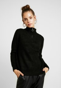 ONLY - ONLHANNAH ZIP - Maglione - black - 0