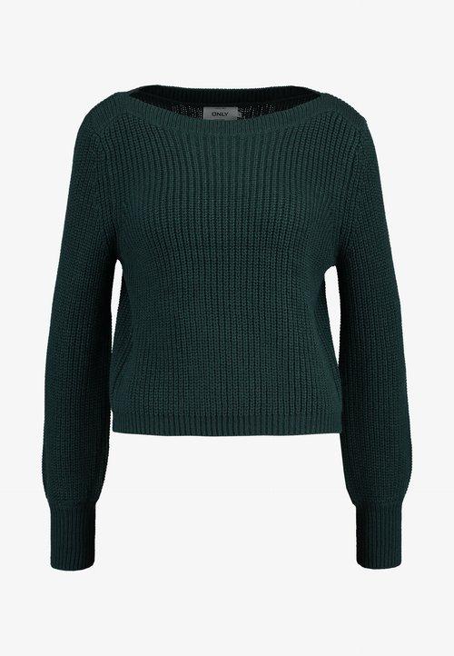 najlepszy ONLY ONLATTILANA - Sweter - green Odzież Damska SVNB-PO7