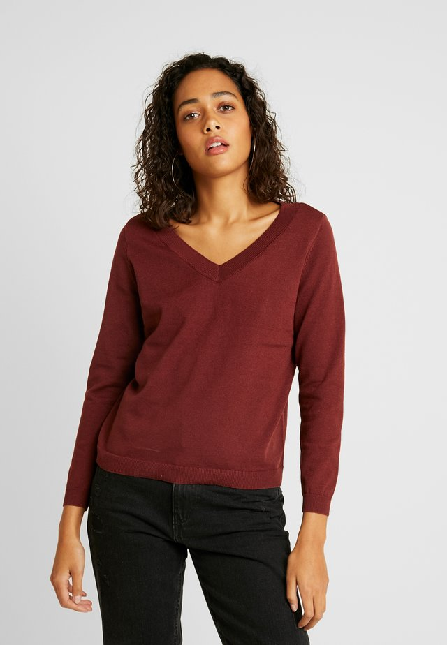 ONLJULIA  V-NECK - Jersey de punto - apple butter