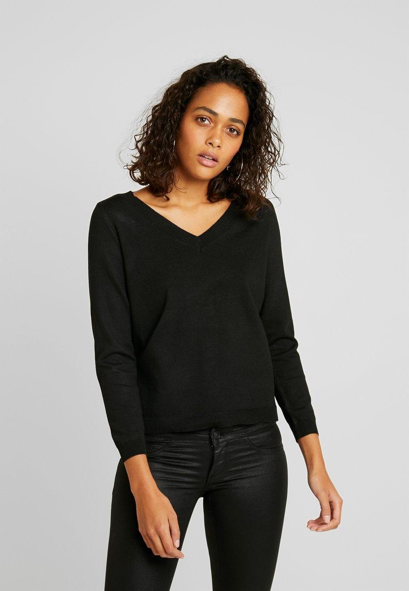 ONLY - ONLJULIA  V-NECK - Jersey de punto - black