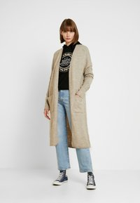 ONLY - ONLCLEAN CARDIGAN - Cardigan - simply taupe/melange - 0