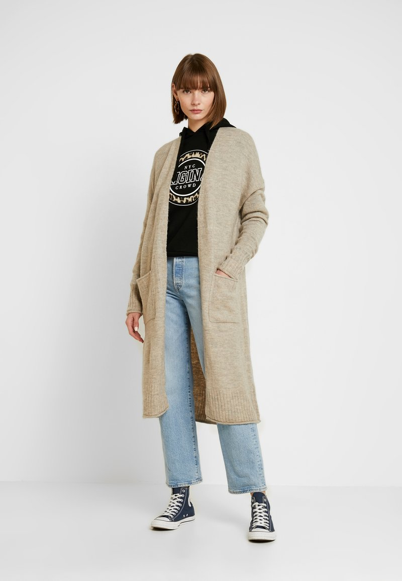 ONLY - ONLCLEAN CARDIGAN - Cardigan - simply taupe/melange