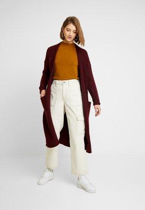 ONLCLEAN CARDIGAN - Cardigan - tawny port/melange
