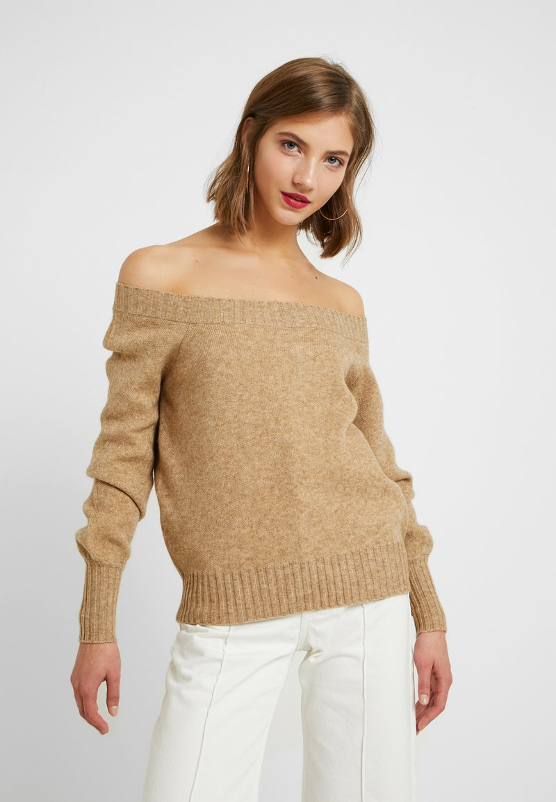 ONLY - ONLNANNA OFF SHOULDER - Trui - indian tan