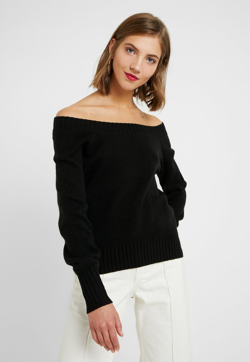 ONLY - ONLNANNA OFF SHOULDER - Trui - black