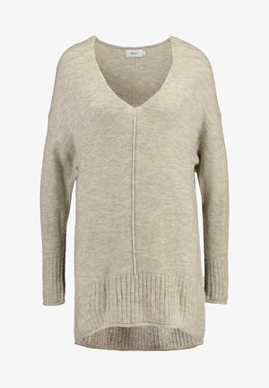 ONLCLEAN EVE V-NECK - Sweter - simply taupe