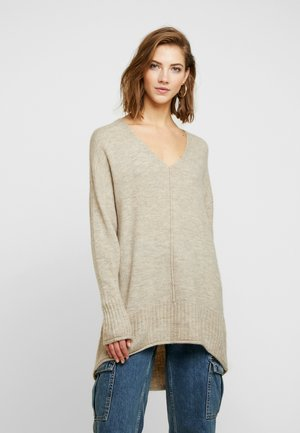 ONLCLEAN EVE V-NECK - Maglione - simply taupe