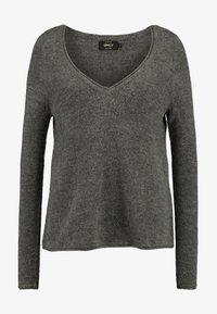 ONLY - ONLCLEAN V-NECK   - Strikkegenser - medium grey melange - 4