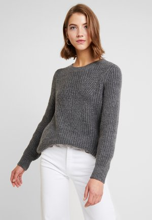 ONLLOU PULLOVER - Jumper - medium grey melange