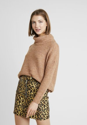 ONLMIRNA ROLLNECK - Strickpullover - indian tan melange