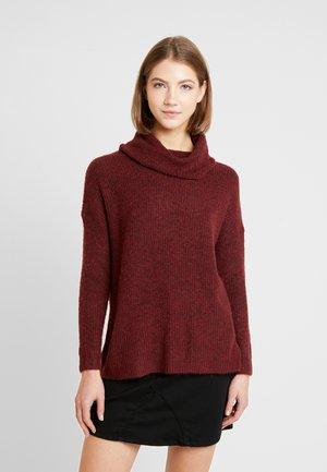 ONLMIRNA ROLLNECK - Sweter - merlot/melange