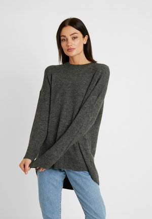 ONLMIRNA LONG - Neule - dark grey melange