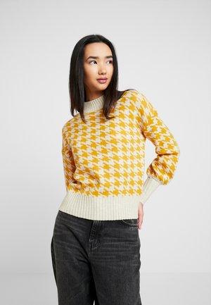 ONLBERIL HIGHNECK - Strikpullover /Striktrøjer - whitecap gray/golden yellow