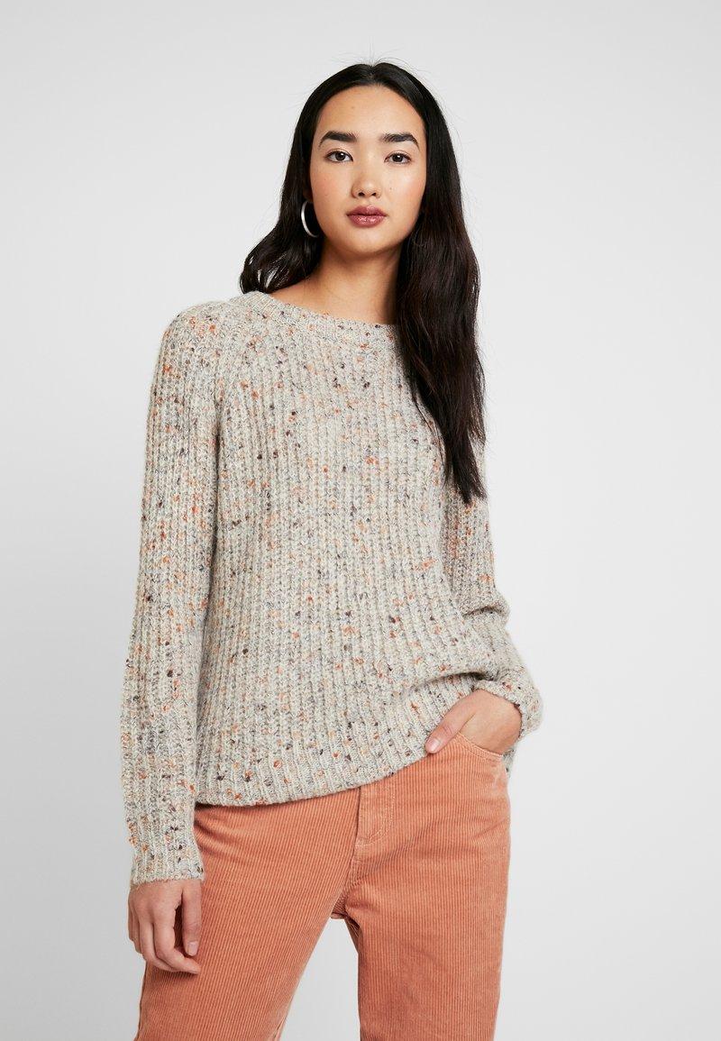 ONLY - ONLHANNI O NECK - Pullover - light grey melange/multi color