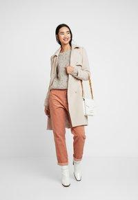 ONLY - ONLHANNI O NECK - Pullover - light grey melange/multi color - 1