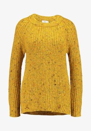 ONLHANNI O NECK - Maglione - golden yellow/multi color