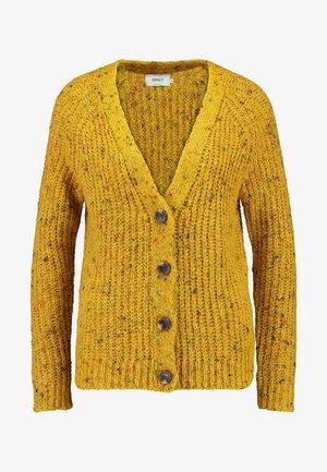 ONLHANNI BUTTON V-NECK CARDIGAN - Cardigan - golden yellow/multicolor naps