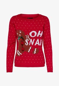 ONLY - ONLOHSNAP PULLOVER  - Jumper - chinese red - 4