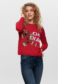 ONLY - ONLOHSNAP PULLOVER  - Jumper - chinese red - 0