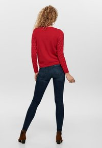 ONLY - ONLOHSNAP PULLOVER  - Jumper - chinese red - 2